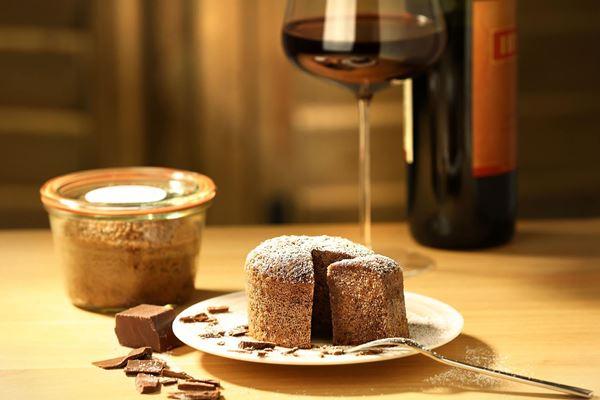 Rotwein trifft Schokolade